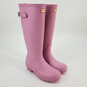 Hunter Pink Rubber Weather Rain Boots Sz 6